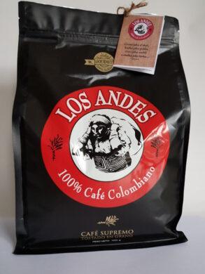 Kolumbijská káva LOS ANDES 1 kg pražená zrnka  100% Arabica GOURMET