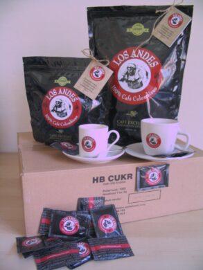 Logistika pro registrované partnery Café LOS ANDES a vybrané obchody