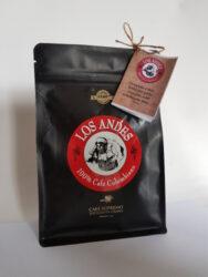 Kolumbijská káva LOS ANDES 250 g pražená zrnká 100% Arabica GOURMET-Vynikajúci čierna káva LOS ANDES  100% Arabica z Kolumbie, GOURMET výber iba kvalitné zrná