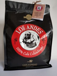 Kolumbijská káva LOS ANDES 1 kg pražená zrnká 100% Arabica GOURMET-Vynikajúci čierna káva LOS ANDES  100% Arabica z Kolumbie, GOURMET výber iba kvalitné zrná
